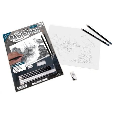 Set pentru realizarea unui desen in creion - Doc pescaresc