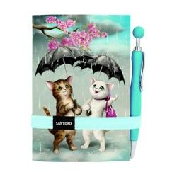 Jurnal Eclectic cu pix Raining Cats