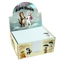 Cub notite cu suport Eclectic Raining Cats