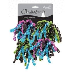 Set 4 pompoane carlionate pentru decorarea cadoului