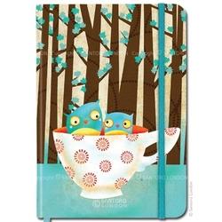 Agenda Eclectic Cup of Owls cu coperti tari cartonate