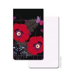 Mini agenda Eclectic Black poppies