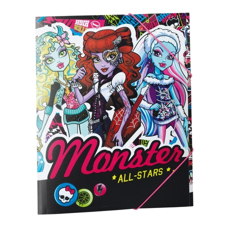 Mapa A4 PP 12 separatoare Monster High