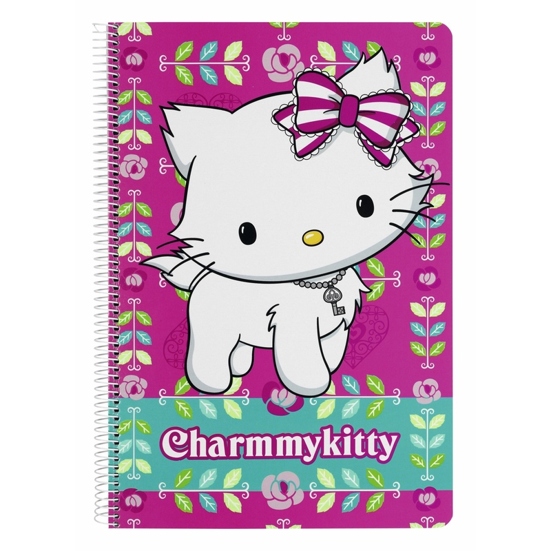 "Caiet cu spira A4-80 de file colectia Charmmy Kitty ""Flowers"" 2"