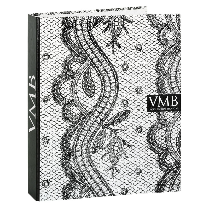 Biblioraft carton cu 4 inele colectia Vicky Martin Berrocal (baroc)