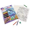 Set creativ educativ - Coloreaza pe numere - Animale marine