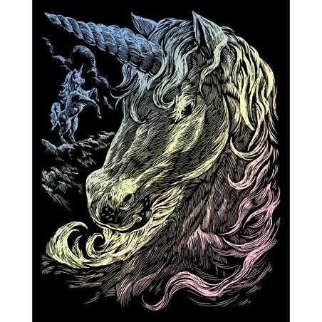 Set gravura pe folie holografica - Unicorni