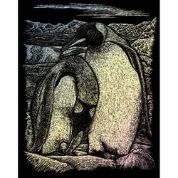 Set gravura pe folie holografica - Pinguini