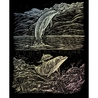 Set gravura pe folie holografica - Delfini