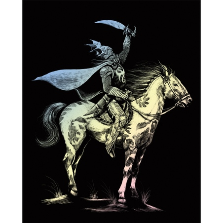 Set gravura pe folie holografica - Dragon