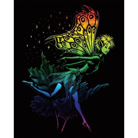Set gravura pe folie curcubeu - Zana dansand