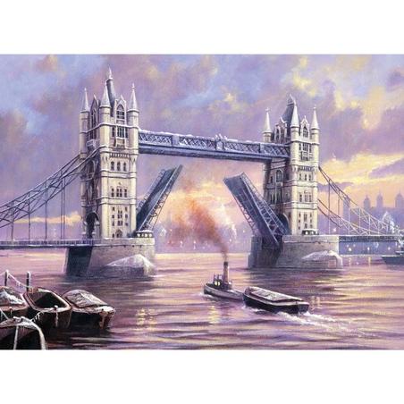 """Pictura creativa pe numere avansati - """"Tower Bridge"""""""