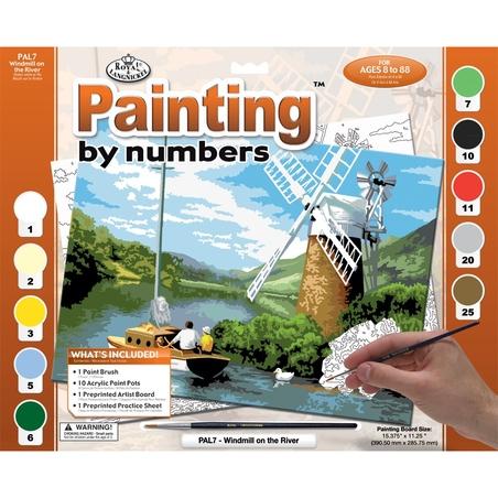 """Pictura creativa pe numere avansati - """"Moara de apa"""""""