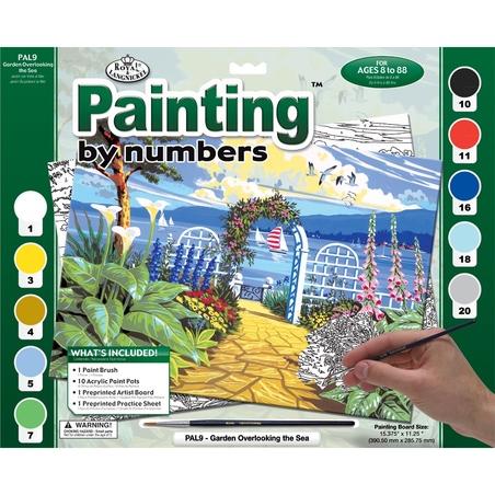 "Pictura creativa pe numere avansati - ""Gradina"""