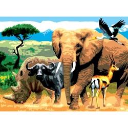"""Pictura pe numere juniori - """"Africa"""""""
