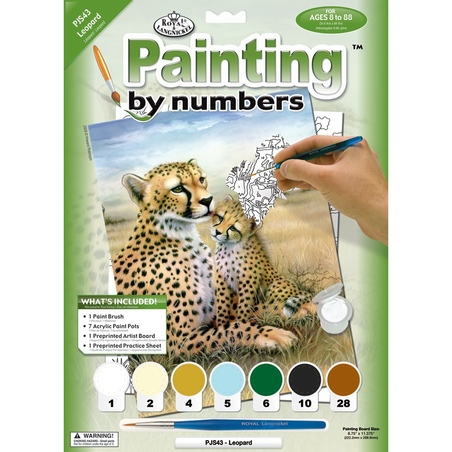Prima mea pictura pe nr.junior mic - Leopard