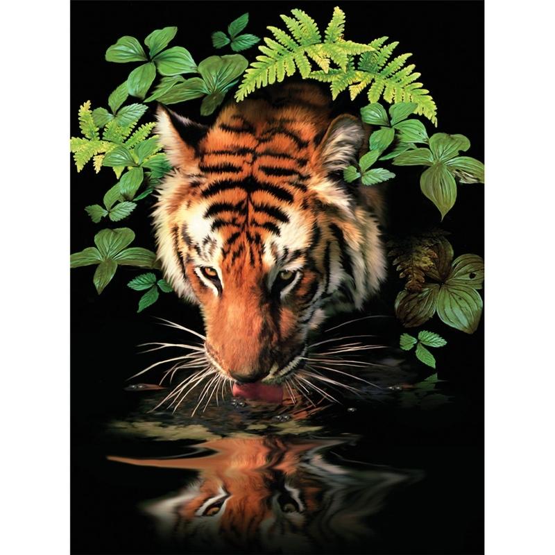 Prima mea pictura pe numere - Tigru