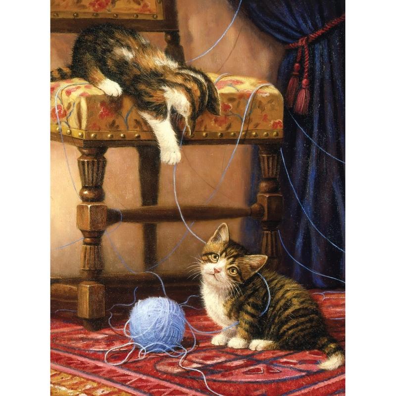 Prima mea pictura pe nr.junior mic - Pisicute jucause