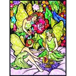 Pictura pe Numere realizata pe folie - Zana florilor
