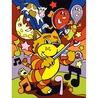 Prima mea pictura pe nr junior Orchestra de pisici 23x30 cm