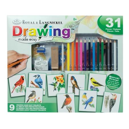 Set creativ educativ - Coloreaza foarte usor pasarile