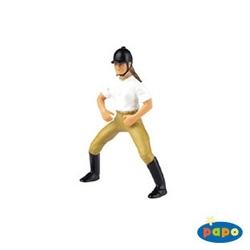 Jockeu fata - Figurina Papo
