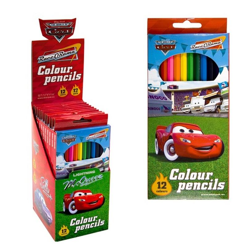 Set de creioane colorate Cars (Disney)