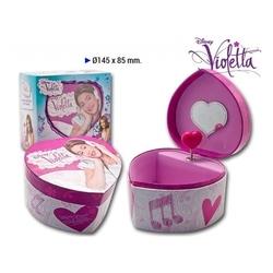 Caseta muzicala in forma de inima Violetta