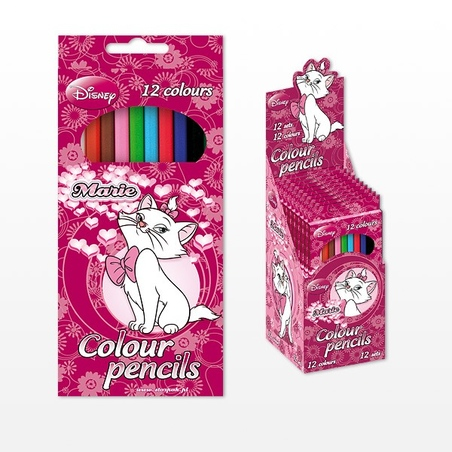 Set 12 creioane colorate MARIE CAT