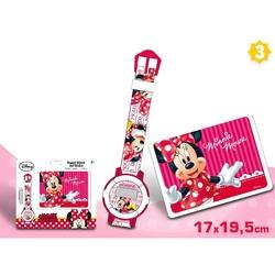 Set cadou ceas mana+portofel Minnie Mouse