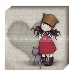 Gorjuss Pictura panza - Purrfect Love - Small (200 x 200mm)