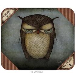 Mousepad colectia Eclectic -  Grumpy Owl