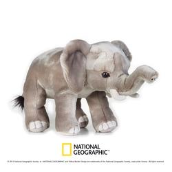 Jucarie din plus National Geographic Elefant 25 cm