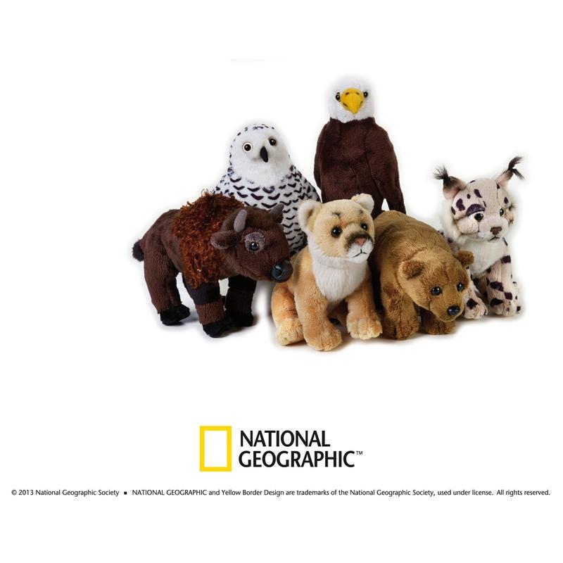 Jucarie din plus animal din America de Nord 18 cm