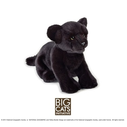 Jucarie din plus National Geographic Pantera neagra 25 cm