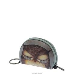Portofel pentru monede Eclectic™ Grumpy Owl