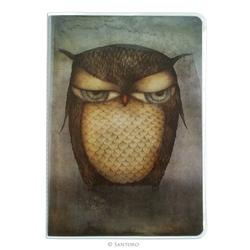 Caiet premium cu muchie cusuta A5 Eclectic™ Grumpy Owl