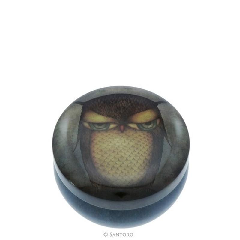 Cutie metalica de depozitare Eclectic™ Grumpy Owl