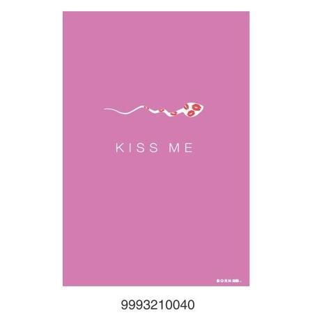Felicitare BORN 2B - Kiss me