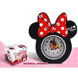 Ceas masa din lemn funda rosie Minnie Mouse