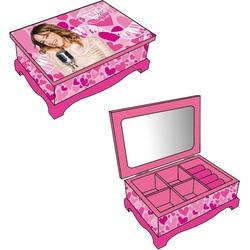 Caseta bijuterii din lemn Disney Violetta