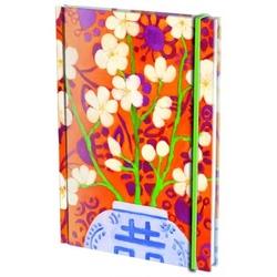 Agenda nedatata cu coperti tari si elastic A5 Blossom in Orange, Mariska Meijers