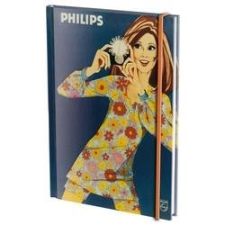 Agenda nedatata cu coperti tari si elastic A5 Photoflux, Philips Museum