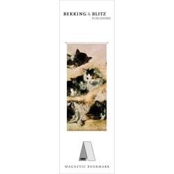 Semn de carte magnetic A study of kittens, Henriette Ronner-Knip
