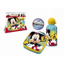 Set recipient Al si geanta termoizolanta sandwich Mickey Mouse
