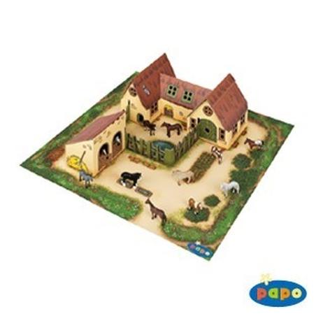 Mini ferma si grajd din carton - (figurinele nu sunt incluse)