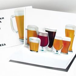 Beer. O felicitare 3D Origami nostima. Hai la bere