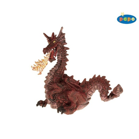 Figurina Papo-Dragon rosu cu flacara