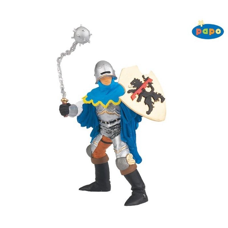 Figurina Papo-cavaler cu ghioaga (albastru)