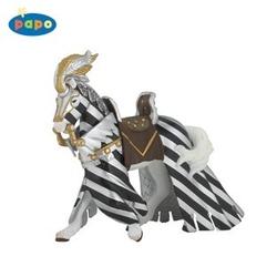 Figurina Papo - Cal echipat pentru turnir (argintiu)